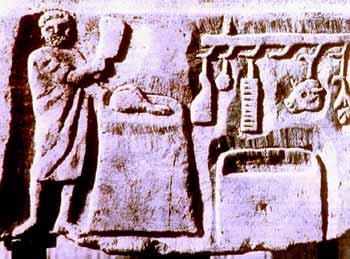 3. Gennaio (part.), bassorilevo (sec. XII), Fidenza, Duomo