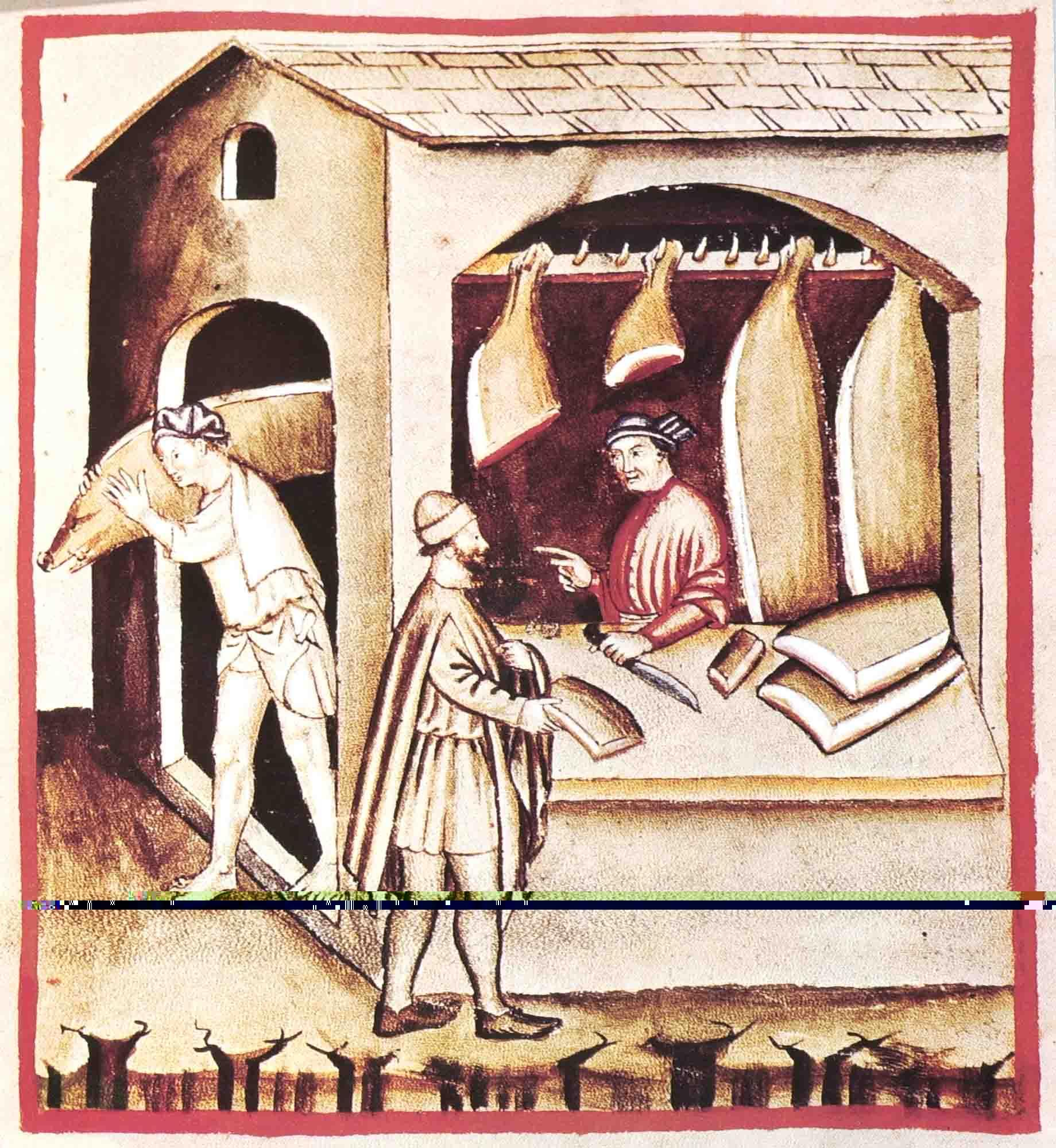 Bottega di Lardarolo, dal Taccuinum Sanitatis