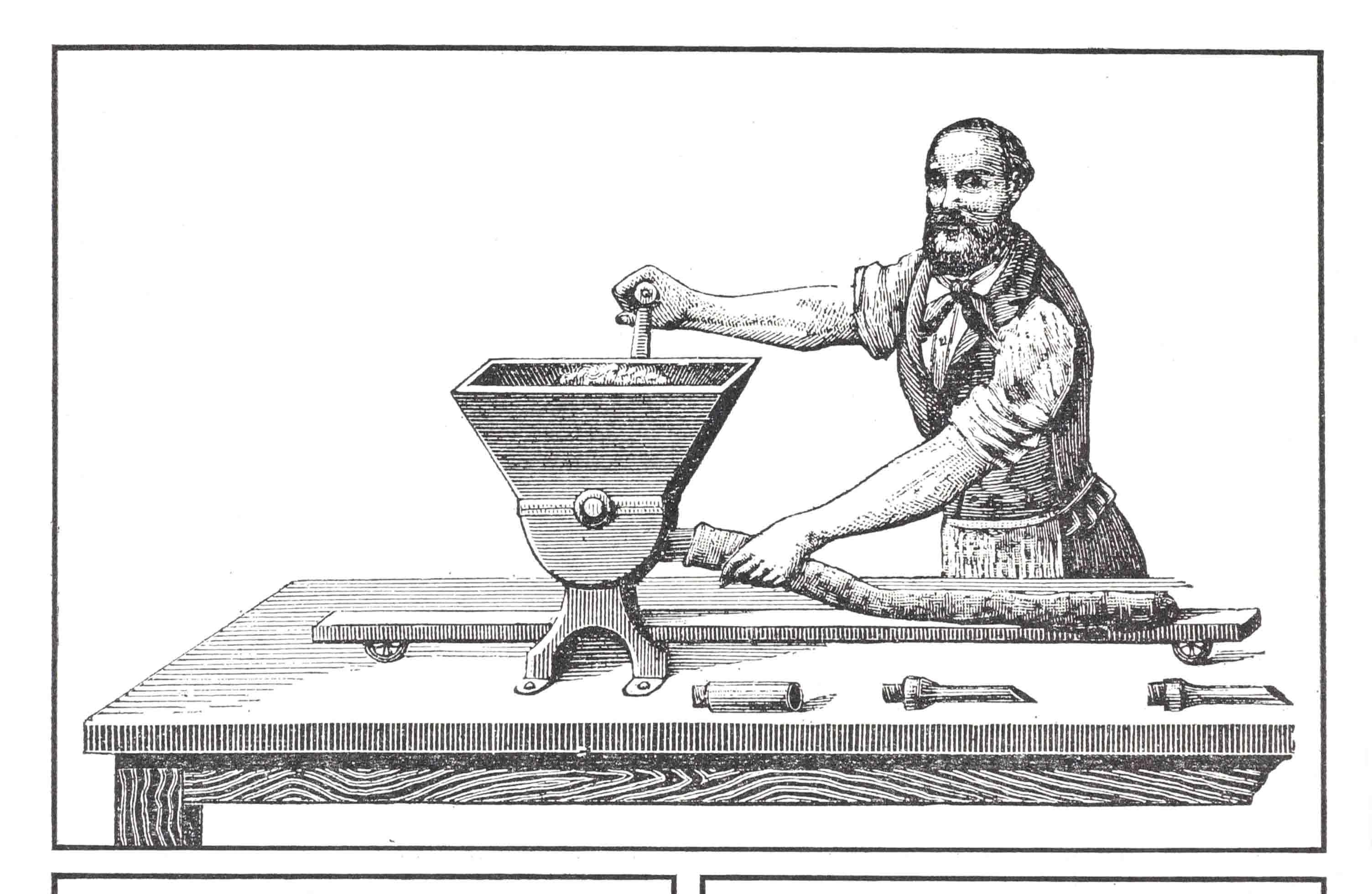 Lavorazione degli insaccati nel XIX secolo
