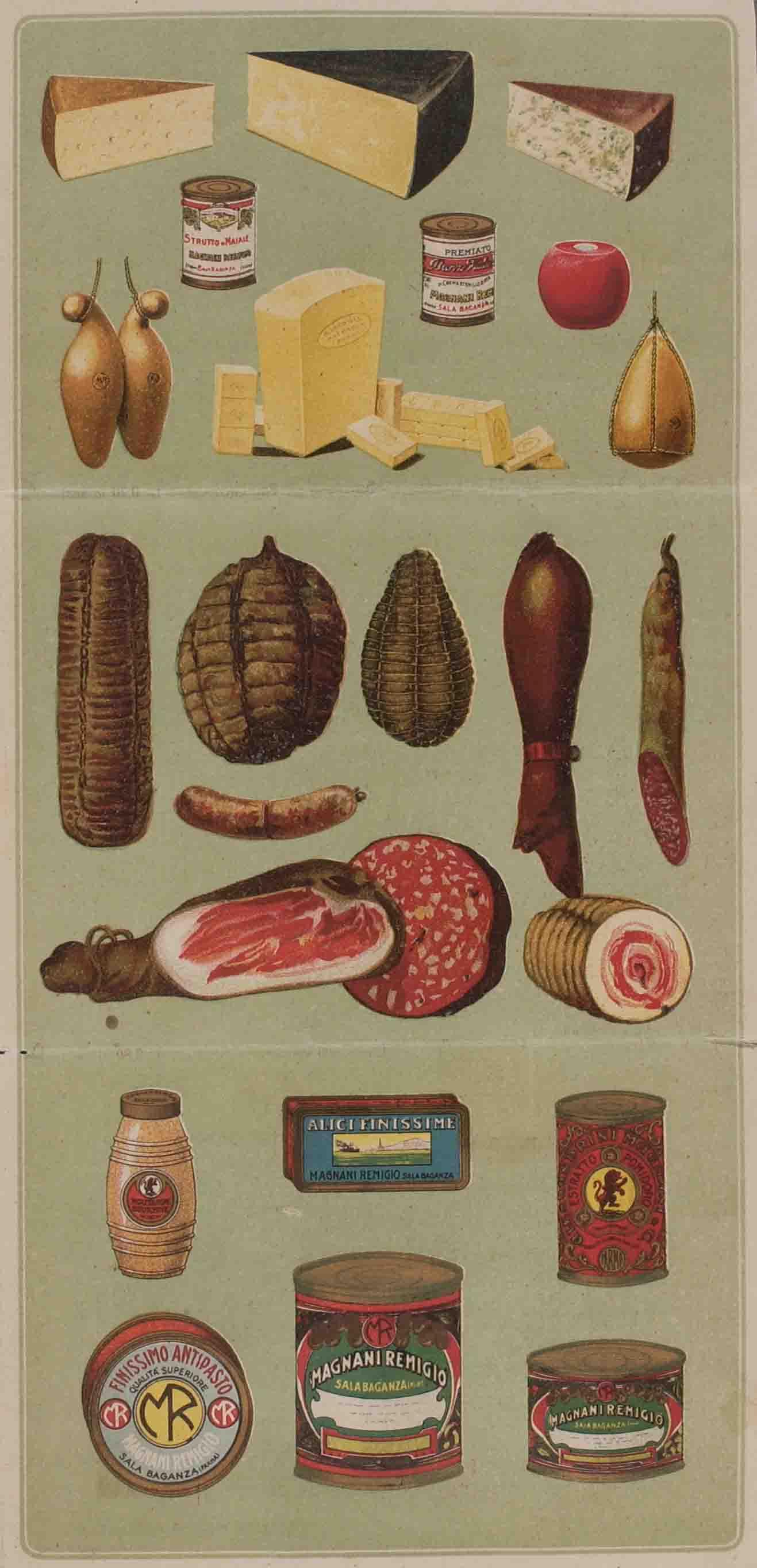 Catalogo dei prodotti alimentari commercializzati negli anni Trenta del Novecento dalla ditta Remigio Magnani di Sala Baganza (PR)