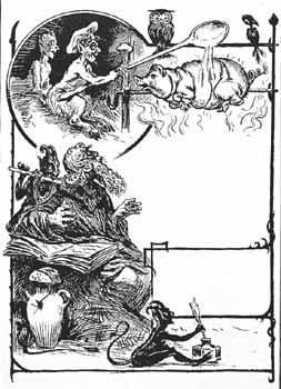 La tentazione di Sant'Antonio Abate. Manifesto, XIX secolo. Con una interpretazione ironica e ormai lontana dall'agiografia tradizionale, qui il diavolo irride il Santo tentandolo con un porcellino allo spiedo