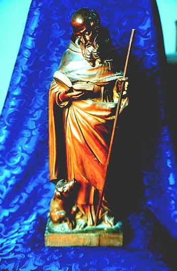 [Foto3] Sant'Antonio Abate con il porcello: Statua lignea, XIX secolo, Venezia, Collezione Battaglia