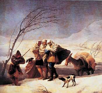 Francisco Goya, La nevicata. Olio su tela, 1786-1787. Madrid, Museo del Prado