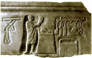 Rilievo funerario ostiense: II sec. d. C.