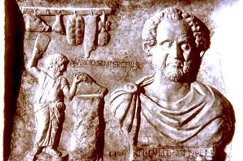 Monumento funerario della moglie Ebria al macellaio Marcius Iulius Vitalis: Età di Marco Aurelio