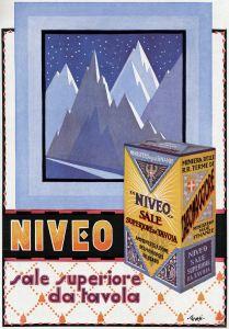 Pubblicità Sale Niveo Da Tavola (Carlo Gnesi) 1929