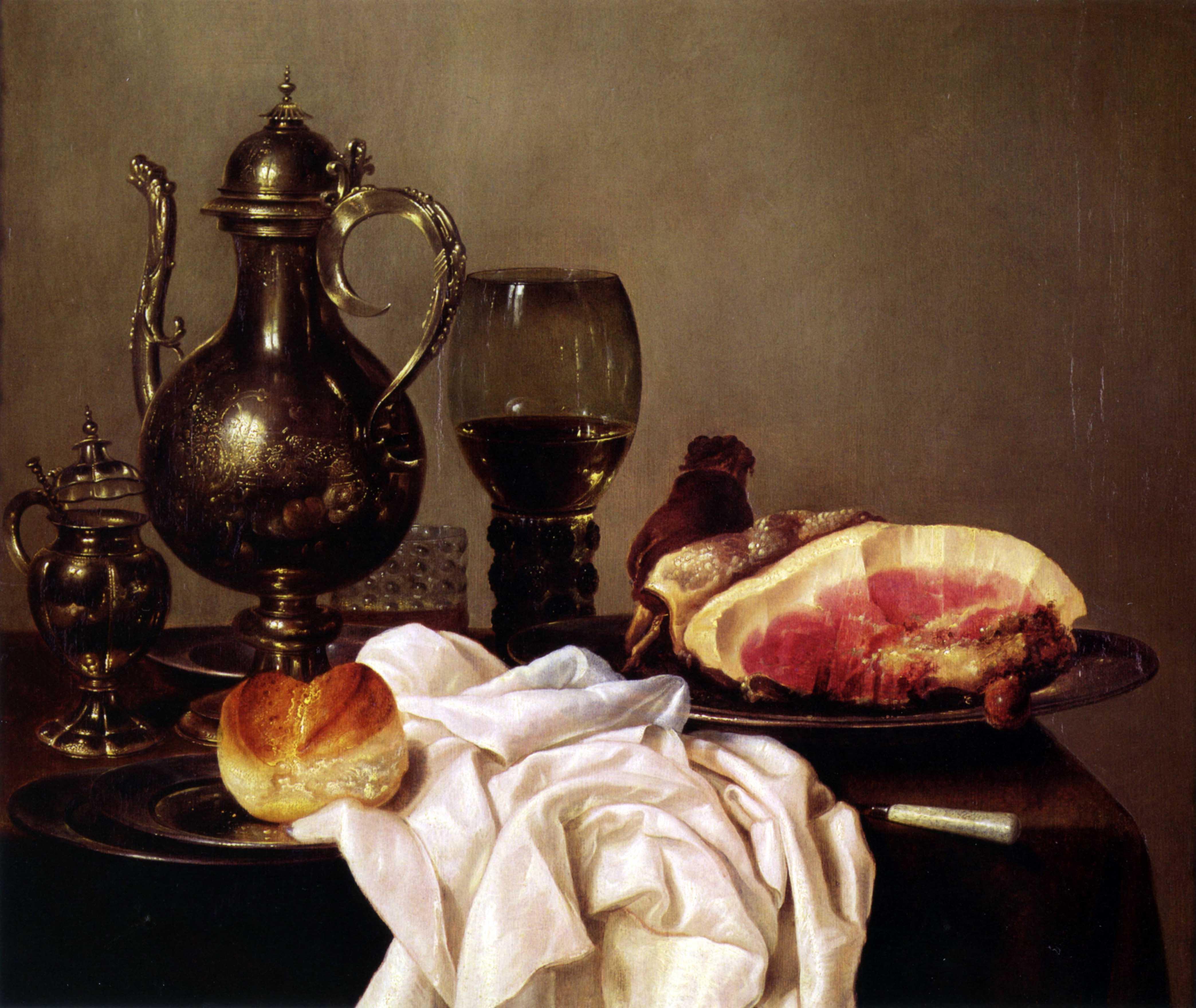 WILLEM CLAESZ HEDA (1594-1680), Breakfast_still_life,_XVII sec. (Collezione Privata)